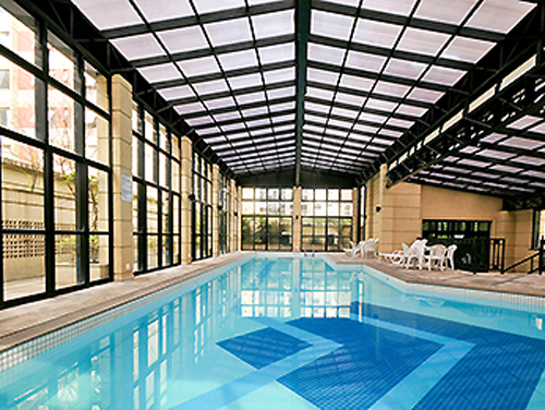piscina aquecida do Hotel Mercure São Paulo Pinheiros