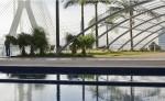 Hotel Novotel São Paulo Morumbi, prédio irmão da ponte estaiada