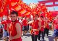 Ano novo chinês na Praça da Liberdade