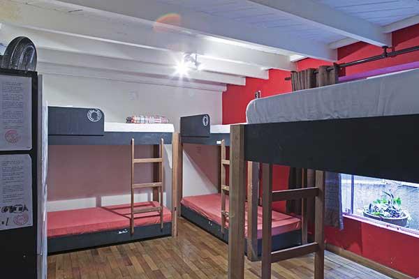 quarto coletivo do pauliceia hostel