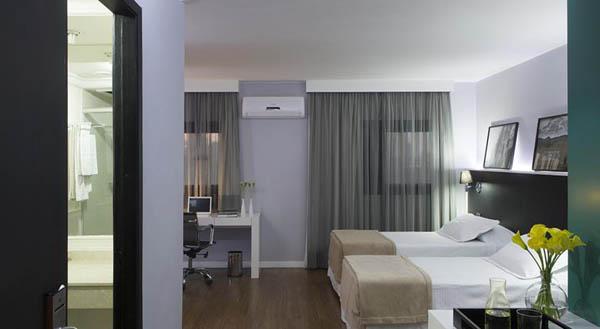 quarto do hotel wz jardins