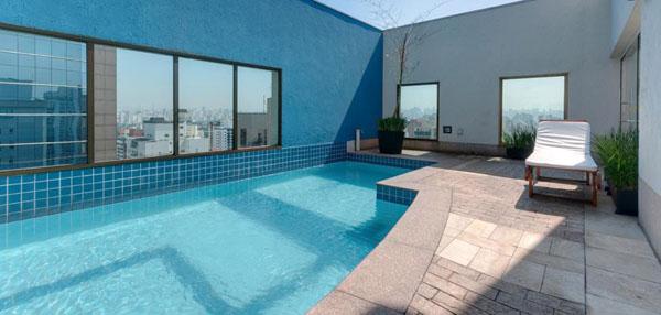 cobertura com piscina no Hotel Tryp São Paulo Iguatemi
