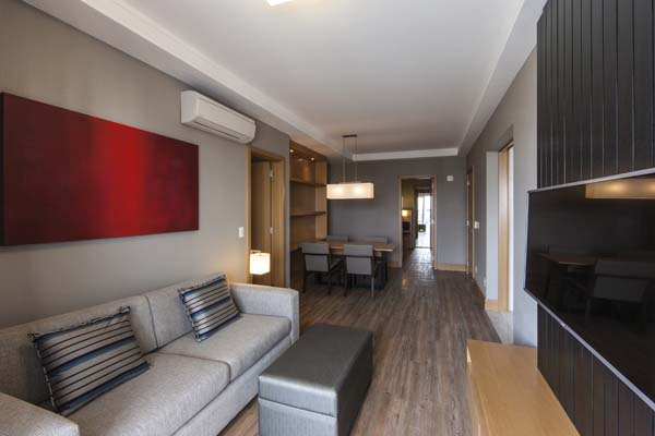 apartamento de 84 m² com sala de estar no olympia residence