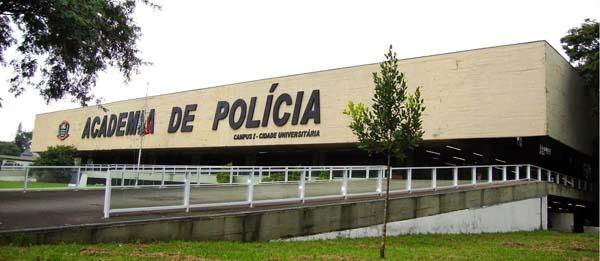 fachada da acadepol onde fica o museu da polícia civil conhecido como museu do crime