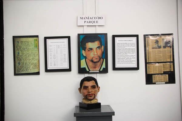 memória do maníaco do parque no museu do crime em são paulo