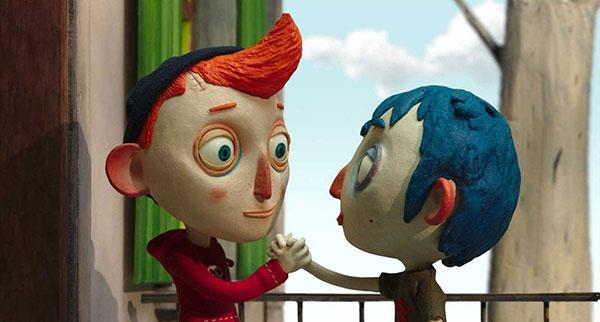 dois garotos apertam as mãos em cena de filme do festival de animação anima mundi