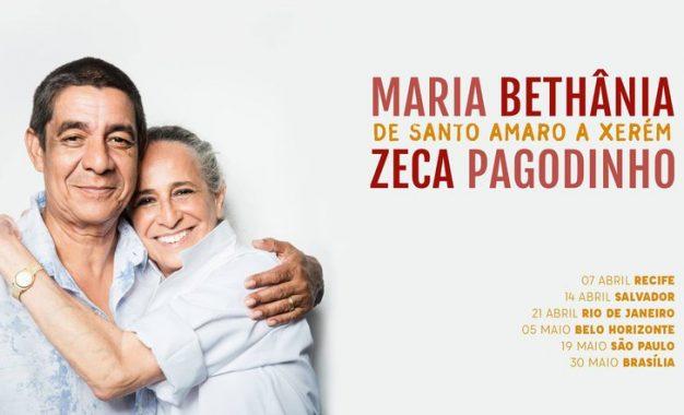 Maria Bethânia e Zeca Pagodinho juntos em São Paulo: Ingressos à venda
